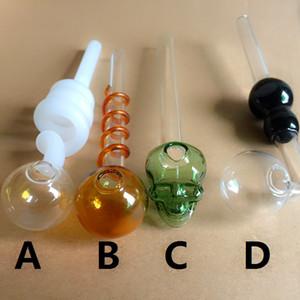 أنابيب الزجاج الموقد النفط أنابيب أنابيب النفط مسمار التدخين أنابيب اليد سميكة للزجاج بونغس