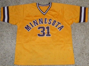 #31 Dave Winfield Jersey Minnesota Gophers 100% Stitched Custom Baseball Jerseys Any Name & Number Free Shipping