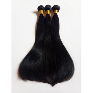 Оптовая 8-26inch Необработанные бразильский виргинский уток человеческих волос Дешевые завод цена Верхнее качество Remy индейца естественный прямой ткачество волосы