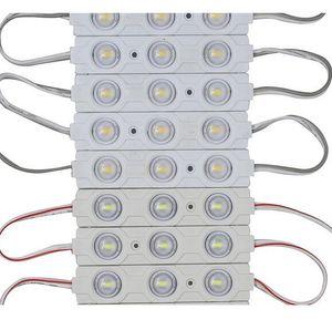 Moduli LED per illuminazione a led NUOVO 5730 Modulo LED a iniezione 3LED 12V con lente Impermeabile IP65, 120 gradi 1.5W bianco