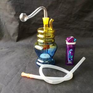 Variété de gradient eau crochet verre verre bongs accessoires, coloré tuyau fumant tuyaux en verre courbé tuyaux de brûleur à l'huile tuyaux d'eau Dab R