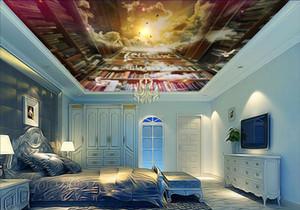 3d soffitto sfondi per soggiorno personalizzato 3d soffitto carta da parati Creativo sogno booksh carta da parati-bedroomsb Nonwovens wallpaper per soffitti