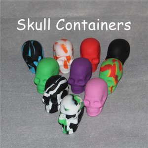 Quality Skull Shape Wax Container Jars Container box Silicone Container For Oil Crumble Wax Tools Jars Dab Wax dab vaporizer