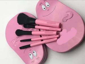 2018 por tiempo limitado 5866 2000 Kolinsky Plastic Foundation Pink Spot Supply 3 New Bced Five Tin Box Pincel de maquillaje de dibujos animados Baba Sets