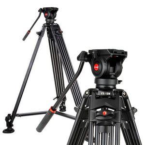 Viltrox Pro 1.8m Aluminium Heavy Duty Video Flüssigkeitsstativ VX-18M + Pan Head + Tragetasche für DSLR Kamera DV Camcorder