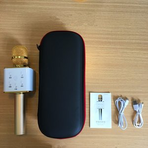 Frete Grátis Q7 Bluetooth Microfone Partido Pocket KTV Sing karaoke Sem Fio Speaker Console de Som Estúdio para iPhone IOS Android Smartphones