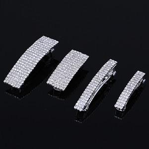 Elegant Rhinestone Hair Pins Barrettes Crystal Hair Clip Woman Fashion Jewelry Silver Plated Wedding Hair Accessories