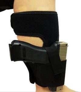 Oculto Universal Tático Ajustável Barriga Banda Pistola de Cintura pé Respirável Carry perna Pistola Coldre Engrenagem Ao Ar Livre Acolchoado Alça Gun Bolsas