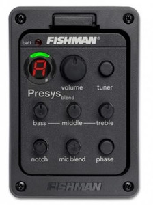 Fishman 301 Pickups 4-Band EQ Equalizador Acoustic Guitar Preamp Piezo captador de guitarra Tuner com Board batida Mic