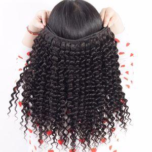 Hot sale Brazilian Deep Curly Hair Extensions Bundles 3 4 Pcs lot Indian Peruvian Malaysian Virgin Remy Hair Cheap Human Curly Hair Weaves