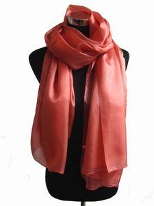 Senhoras das mulheres Plain cor sólida 100% cachecol De Seda Xaile Envoltório lenços SCARF Cachecol SOFT 12 pçs / lote # 1433