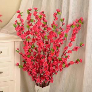 2017 neue dekorative blumen künstliche cherry spring plum pfirsichblüte zweig seidenblume dekorative gefälschte blumen