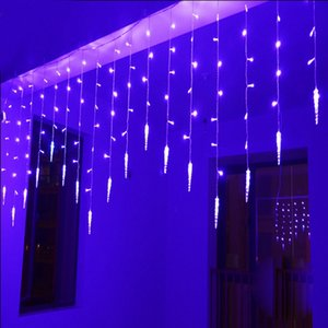 Illuminazione natalizia 2M * 0.6M 60LEDs String Light impermeabile Fairy Icicle LED Curtain String Light per Festival Natale Garden Party Decoration