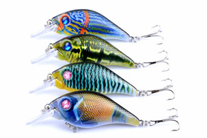 4pcs of Plastic Fake Lures Fish Topwater Fishing Lure Artificial Swimbait 7.5cm, 10.2g Hard Crankbait Pesca Tackle Hooks