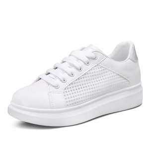 2017 Ano Recém Tipo Primavera Verão Respirável Sapatas Das Mulheres Casuais, Sapato Cor Branca, Mocassins Plano Moda Sapatos