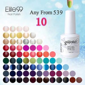 Wholesale-Elite99 15 ملليلتر uv gel nail gel ورنيش علاج أعلى طلاء قاعدة الأساس الاكريليك مسمار كيت هلام مسمار البولندية اختيار أي 10 قطع من 539