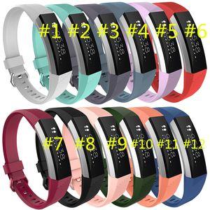 100 % 고품질 2016 새로운 교체 손목 밴드 실리콘 스트랩 걸쇠 fitbit alta HR 스마트 시계 팔찌 12 컬러