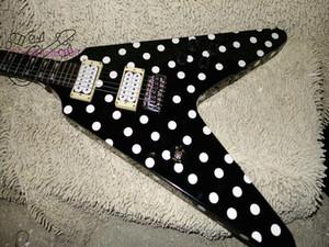 Top Custom Factory Custom Shop RX10D Randy Rhoads Black White Polka Dot Chitarra elettrica Spedizione gratuita