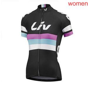 2018 новый Pro LIV Team Женщины Велоспорт с коротким рукавом Джерси Велоспорт одежда Дышащий Горный велосипед Одежда Quick Dry Велосипед Спортивная одежда L1101