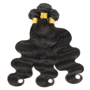 3 paquetes Brasileño Body Wave Wave Weave Barato Color 1b Black Virgin Indian Indian Malasian Peruano Camboyano Chino Chino Pelo Humano