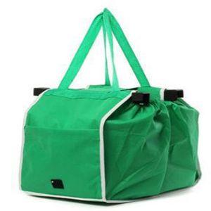 Wholesale- New Grab-Bag Einkaufstaschen, die Clips in Ihrem Warenkorb Folding Taschen OPP Beutel-Paket UPS geben Schiff frei