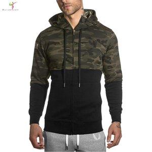Hot Camo Hoodies terno homens camisola cinto patchwork gigantes Musicais homem hoodies sportwear conjunto M-XXL GINÁSIO Em Execução de Moda Jogging Calças Com Capuz