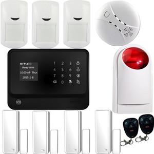Yeni Alarm Sistemleri Güvenlik Ev GSM + Wifi + GPRS, APP Kontrollü Alarm Sistemi Ev WiFi Alarm Sistemi G90B