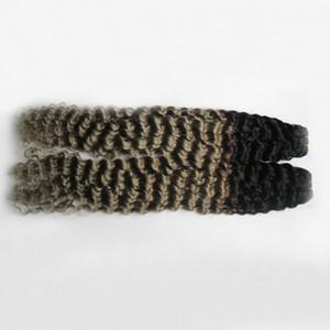 브라질 곱슬 머리 곱슬 머리 T1B / 그레이 ombre 회색 머리 곱슬 곱슬 곱슬 머리카락 200g 회색 머리 묶음 2pcs