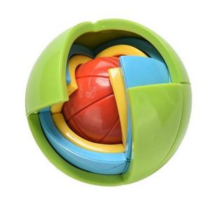 3 unids / lote Nueva 3D Magia Intelecto Rompecabezas Maze Ball Brain Teaser Juego Educaciones para Niños IQ Entrenamiento Rompecabezas Lógico Juguete de Los Niños