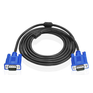 30pcs lot 5Ft SVGA VGA Monitor M M Male To Male Extension Cable Ship From USA Blue CL092BU (DY)