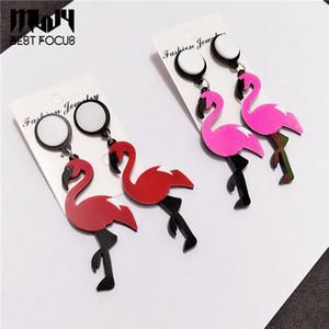 Cute Flamingo Orecchini Animal Drop Ciondola gli orecchini per le donne Ragazze fascino gioielli moda regali di Natale 2 stile