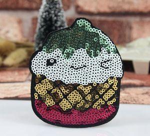 New Iron On Patches Emblema ricamato fai-da-te per vestiti abbigliamento distintivi tessuto cucito lucido glitter labbra fragola gelato ecc