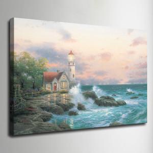 Thomas Kinkade pintura al óleo paisaje casa rural HD impresión en lienzo arte de la pared fotos decoración para el hogar decoración de la sala