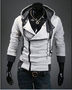 Wholesale-Hot Sale Men Assassins Creed Hoodie Marke Design Reißverschluss Sweatshirt Männer Trainingsanzug Größe M-6XL