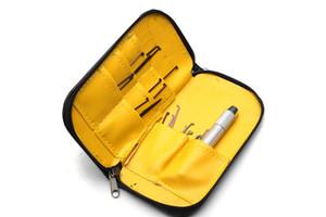 GOSO Juego de cerradura intercambiable de 21 piezas con caja de cuero premium Juego de cerradura de bolsillo mini-forma