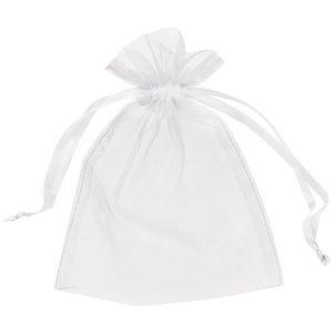 200Pcs Bolsas de organza blancas Bolsa de regalo Bolsa de favor de boda 13cm X18 cm (5x7 pulgadas) 11 colores Marfil / oro / azul