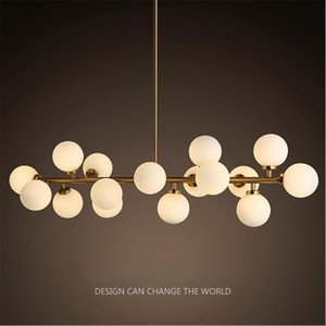 DNA Molecule Chandelier 16 Heads Industry Iron Pendant Lamp G4 LED Black Gold Home Lighting Fixture
