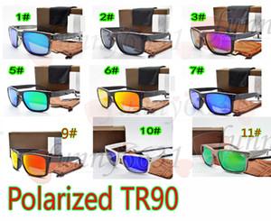 MOQ=10 компл. мужчины поляризованных солнцезащитных очков TR90 + 1.0 красочные солнцезащитные очки UV400 велосипедов стекла женщина пик солнцезащитные очки с caseA бесплатная доставка