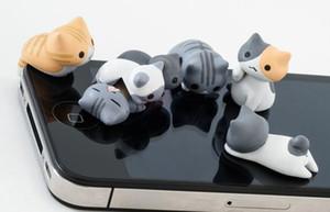 Käse Katze Anti Staub Obst Plug Kappe von 3,5 mm Kopfhörer Jack Staub Tier Kopfhörer für iPhone weichen Silikon Stecker Handy Staub Stecker