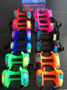 The explosion of children's toys wholesale manufacturers fenghuolun Heelys luminous meteor round Pu color wheel lamp