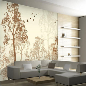 Tapete Foto Flash Klassische Einfachheit diesig Schönheit Vogel Baum Kunst Tapeten Wandbild Tapete Anstrich für Wohnzimmer