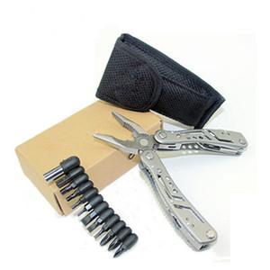 Herramientas plegables de combinación de alta calidad Alicates múltiples Herramientas de cuchillo Alicates de combinación para la herramienta de mano Alicates de punta de aguja portátil