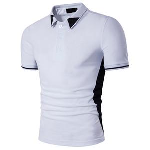 Negro blanco Poloshirts para hombre Tops moda Polo camisetas 2017 nueva llegada de la marca T Shirt Summer Pop manga corta ropa venta al por mayor
