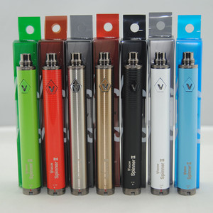 1650 mAh ouro Vision II Spinner 2 Várias cores Variable Voltage vaporizador Battery 510 Connection Vape Pen E Cigs usb ego Cigarro + carregador