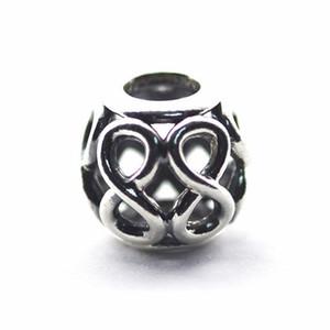 Infinite Love Charms Ajouré Perle Authentique 925-Sterling-Silver Huit Perles Pour La Fabrication de Bijoux DIY Charme Bracelets Accessoires HB630