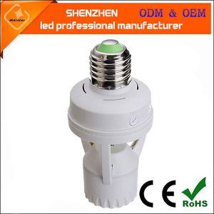 E27 B22 나사 유도 램프 홀더 LED 유도 램프 스위치 어댑터 적외선 인간 체 유도 램프 홀더
