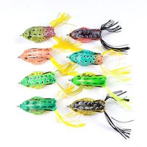 8 цветов моделирование Рэй лягушка искусственная приманка для пресноводной рыбалки 13.5 г 6 см Topwater мягкий бас Pesca приманки