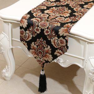 Estilo de Europa en relieve Jacquard Rustic Table Runner Estilo americano High End Coffee Table Cloth Rectángulo Moda Dining Table Mats 200x33 cm