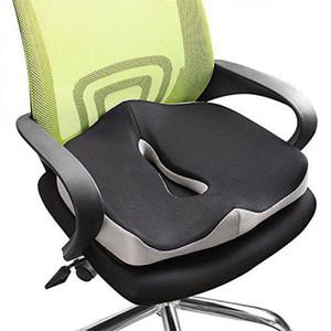 Confort de espuma de memoria del amortiguador de asiento ortopédico coxis silla de la oficina del asiento de coche amortiguador trasero Tailbone ciática Alivio del Dolor Espalda Cojines