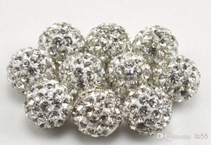 500pcs / lot 10mm iyi açacağı cz Disko kil Topu Kristal Shamballa boncuk bilezik kolye Boncuk yeni stil Yapay elmas e6734 gevşek karışık